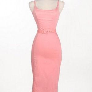 Sale! Jayne Wiggle dress in Pastel Pink (PUG)